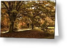 Autumn Umbrella Greeting Card
