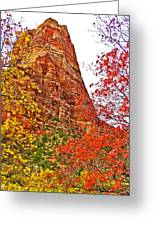 Autumn View Along Zion Canyon Scenic Drive In Zion National Park-utah Greeting Card