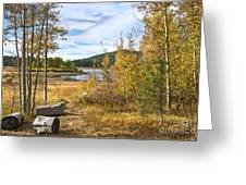 Autumn View At Spooner Greeting Card