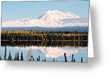 Autumn View Of Mt. Drum - Alaska Greeting Card
