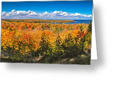 Autumn Vistas Of Nicolet Bay Greeting Card