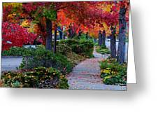 Autumn Walk In Grants Pass Greeting Card