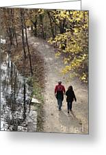Autumn Walk On The C And O Canal Towpath Greeting Card