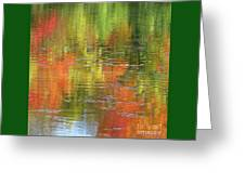 Autumn Water Colors Greeting Card
