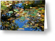 Autumn Water Lily Reflections  Greeting Card