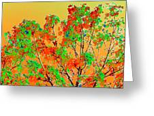 Autumn Watercolor Painting Greeting Card