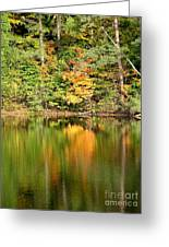 Autumn Watercolor Reflections Greeting Card