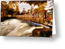 Autumn Waterfall / Maynooth Greeting Card by Barry O Carroll