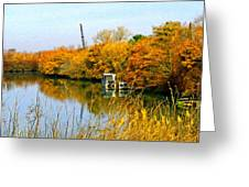 Autumn Weekend On The Delta Greeting Card