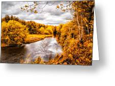 Autumn White Mountains Maine Greeting Card