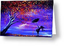 Autumn Wind Greeting Card by Ann Marie Bone
