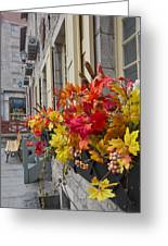 Autumn Window Box Greeting Card by Gordon  Grimwade