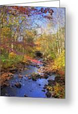 Autumn Woods Greeting Card by Joann Vitali
