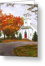 Autumn Worship Greeting Card