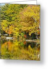 Autumn Yellow Reflections Greeting Card