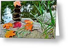 Autumn Zen Greeting Card
