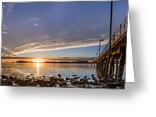 Autumnal Sunset At Del Norte Pier Greeting Card