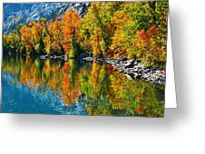 Autumn's Beauty Reflected Greeting Card