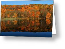 Autumns Colorful Reflection Greeting Card