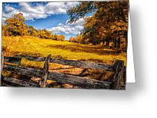 Autumns Pasture Greeting Card by Bob Orsillo