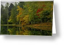 Autumns Reflection Greeting Card