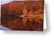 Autumn's Reflection Greeting Card