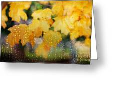 Autumns Tears Greeting Card