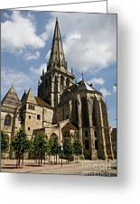 Autun Cathedral View Burgundy Greeting Card