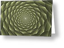 Avacado Vertigo Vortex Greeting Card