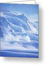 Avalanche At A Distance Greeting Card