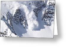 Avalanche I Greeting Card by Bill Gallagher