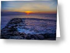 Avalon New Jersey Sunrise Greeting Card