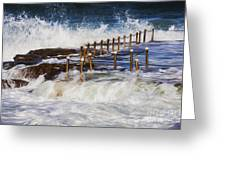 Avalon Rockpool In A Storm Greeting Card