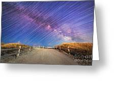 Avalon Star Trails  Greeting Card