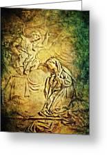Ave Maria...gratia Plena Greeting Card by Lianne Schneider