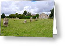 Avebury Aligned Stones Greeting Card