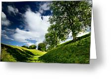 Avebury Hillside Greeting Card