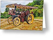 Aveling And Porter Showmans Tractor Greeting Card