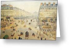 Avenue De L'opera In Paris Greeting Card