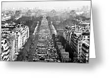 Avenue Des Champs-elysees Greeting Card by John Rizzuto