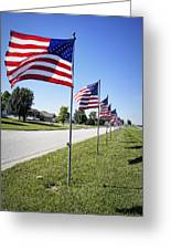 Avenue Of The Flags Greeting Card