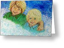 Avery And Atley Angels Of Brotherly Love Greeting Card