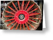 Avery Tractor Tire Greeting Card