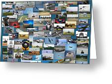 Aviation Collage Greeting Card