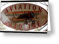 Aviation Gasoline Sign Greeting Card