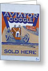 Aviator Goggle Sold Here Poster Greeting Card