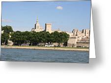 Avigon View From River Rhone Greeting Card