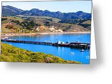 Avila Beach California Fishing Pier Greeting Card