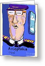 Aviophobia Greeting Card