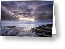 Avoca Sunrise 3 Greeting Card by Steve Caldwell